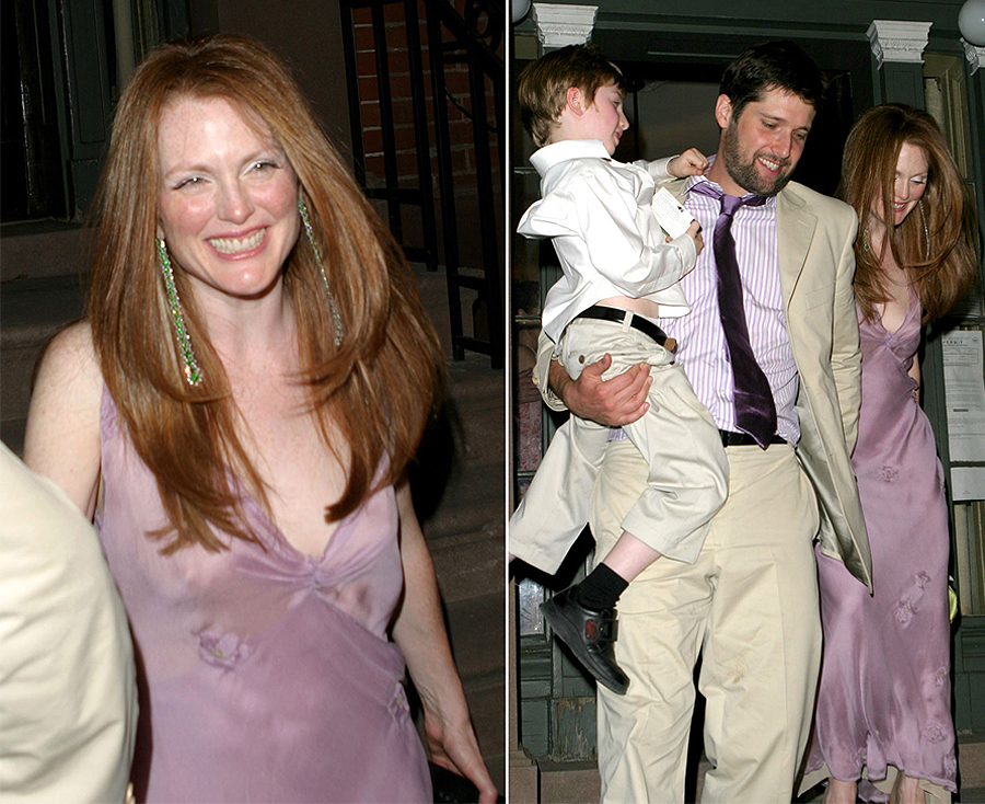 Non White Wedding Dresses - Julianne Moore Lilac Wedding Dress